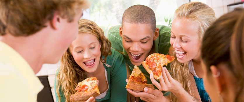 Pizza casera para adolescentes