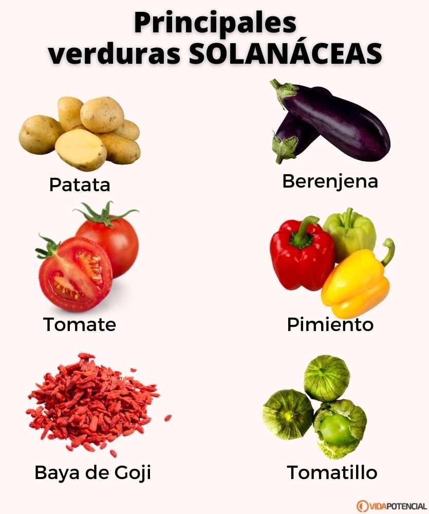 lista verduras solanaceas