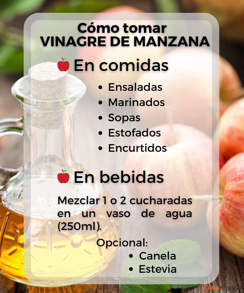 como tomar vinagre manzana