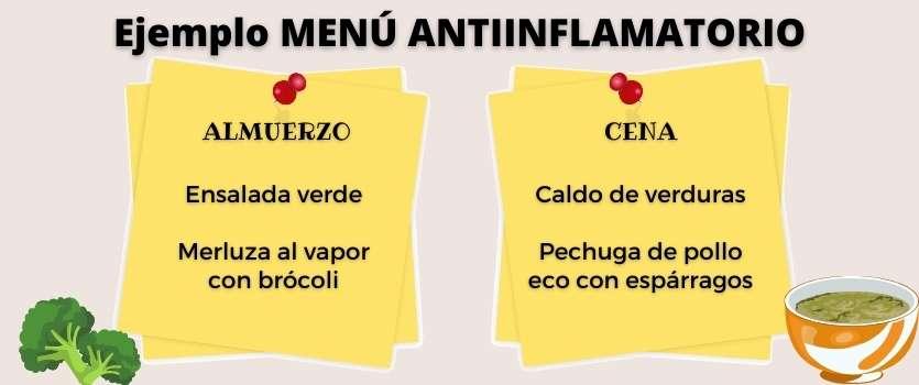 dieta antiinflamatoria menú