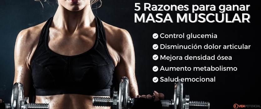 beneficios ganar masa muscular