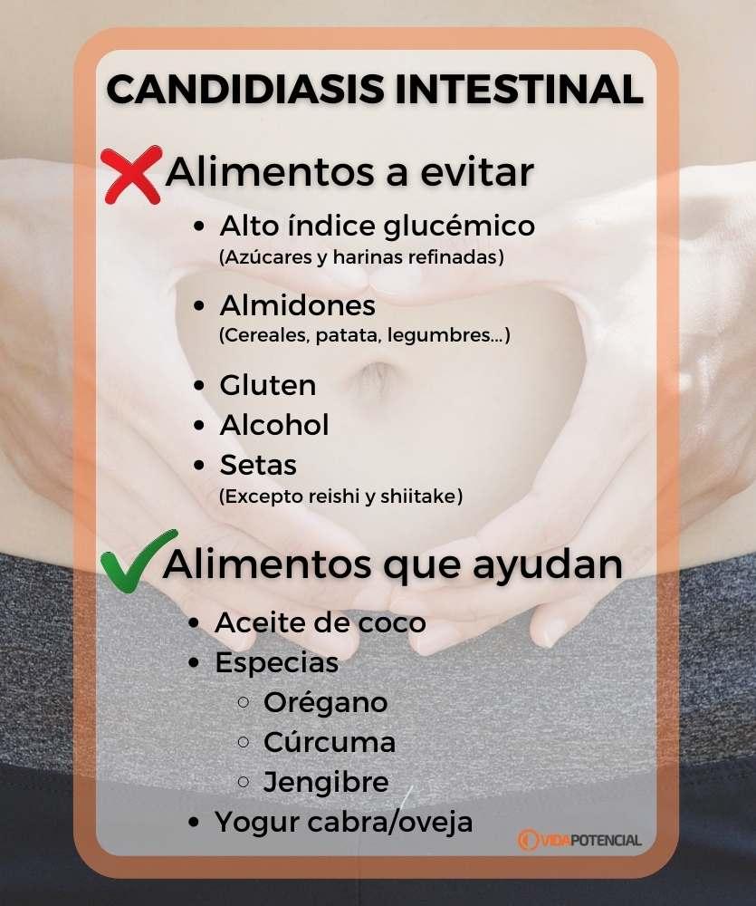 candidiasis intestinal alimentos