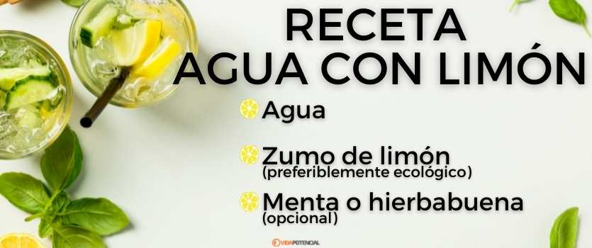 como preparar agua limon